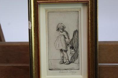 Lot 1707 - Eileen Soper (1905-1990) signed etching - The First Recitation, in glazed gilt frame, 9.5cm x 5cm  Provenance: Chris Beetles Ltd. London