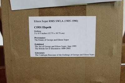 Lot 1708 - Eileen Soper (1905-1990) etching - Elspeth, in glazed gilt frame, 13.5cm x 11.5cm  Provenance: Chris Beetles Ltd. London