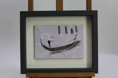 Lot 1792 - *Tessa Newcomb (b.1955) oil on board - A Lilac Moment, framed