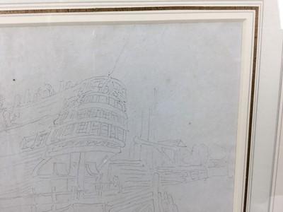 Lot 1857 - Thomas Rowlandson (1756-1827) pencil drawing - The Shipyard, in glazed gilt frame, 16cm x 17cm  Provenance: Chris Beetles Gallery