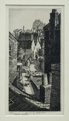 Lot 1840 - *Stanley Roy Badmin (1906-1989) signed limited edition etching – Shepton Mallet, Somerset, 40/50, in glazed gilt frame