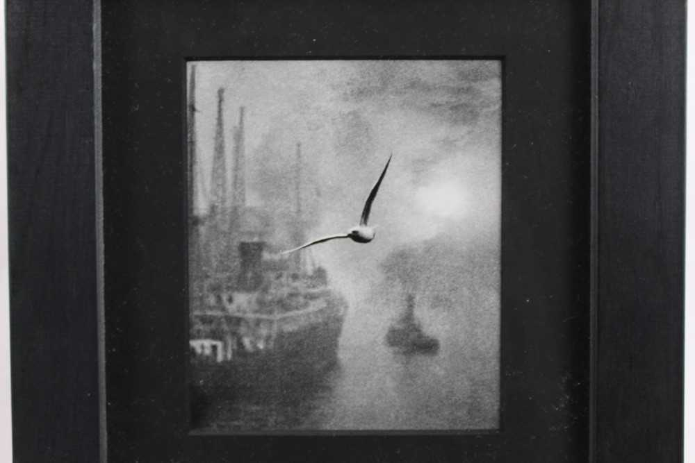 Lot 1834 - Bill Brandt (1904-1983) photographic print - Early Morning on the River, London Bridge, 1936, unsigned, in glazed frame  Provenance: Chris Beetles Gallery