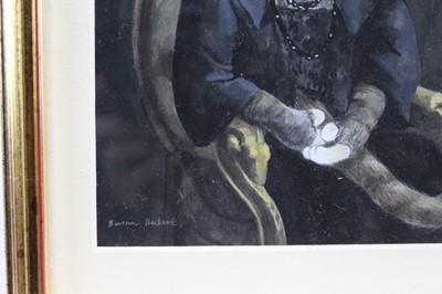 Lot 1784 - Susan Herbert (1945-2014) watercolour - Arabella Duval Huntington, signed, in glazed gilt frame  Provenance: Chris Beetles Gallery