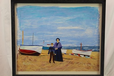 Lot 1849 - Leilani Roosman, contemporary, mixed media on paper - Peter Grimes, Aldeburgh Festival 2000, in glazed frame