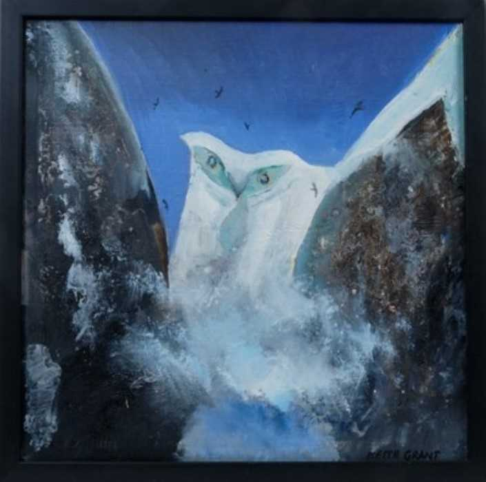 Lot 1720 - *Keith Grant (b.1930) oil on canvas - The Owl Glacier, signed and inscribed verso, framed  Provenance: Chris Beetles Gallery