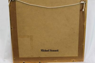 Lot 1800 - Michael Stennett (b.1946) mixed media on paper - Midsummer Night's Dream, signed and inscribed, in glazed gilt frame