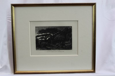 Lot 1770 - Samuel Palmer (1805-1881) pair of etchings - The Sepulchre and The Cypress Grove, in glazed gilt frames  Provenance: Goldmark Gallery