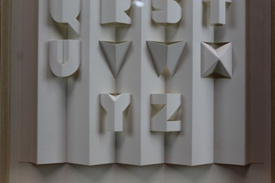 Lot 1805 - Ronald King (b.1932) paper cut-out - Alphabet II, in glazed frame