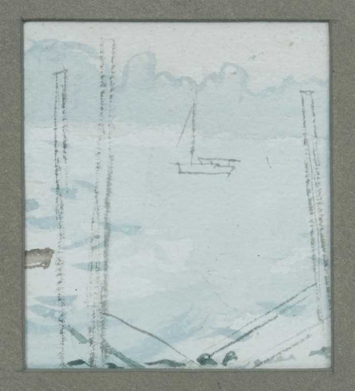 Lot 1701 - *Mary Potter (1900-1981) watercolour - Boat, 1964, in glazed frame  Provenance: The New Art Centre