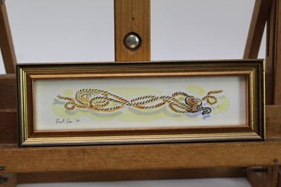 Lot 1734 - Paul Cox (b.1957) set of four pen, ink and watercolours - Nautical Themes, each signed and dated '12, in glazed gilt frames, 4cm x 18cm  Provenance: Chris Beetles Gallery