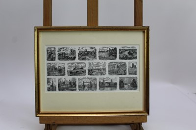 Lot 1751 - John Bryce (b.1936) three signed limited edition etchings - Along The Thames, St Saviour's Dock and Oranges and Lemons, each in glazed gilt frames