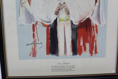 Lot 1780 - *Ronald Searle set of twelve Punch cartoons - Heroes of our Time, in glazed frames