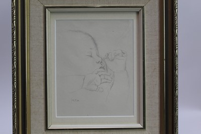 Lot 1755 - Robert Sargent Austin (1895-1973) pair of pencil drawings - Restful Sleep and Baby Asleep, one dated, in glazed gilt frames  Provenance: Chris Beetles Gallery, London