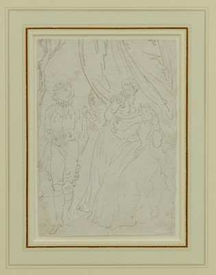 Lot 1858 - Thomas Rowlandson (1756-1827) pencil drawing - The Intruder, in glazed gilt frame  Provenance: Chris Beetles Gallery