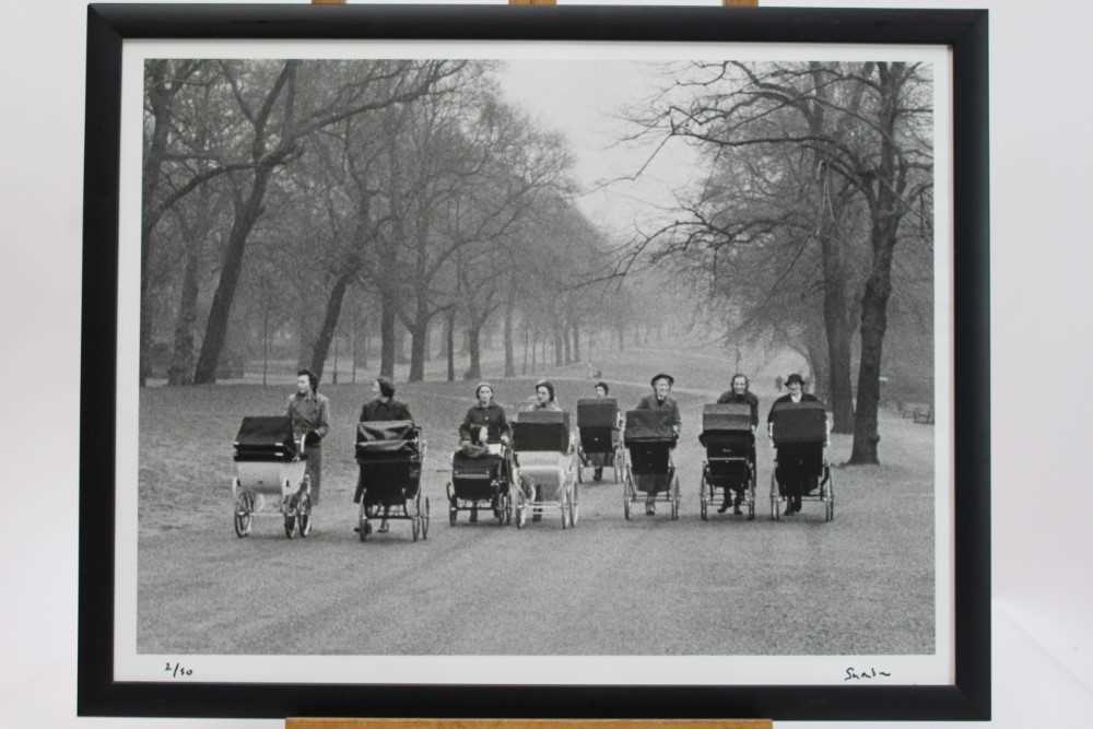 Lot 1804 - Lord Snowdon signed limited edition photograph - Nannies on Rotten Row, London, 1958, 2/50, in glazed frame  Provenance: Chris Beetles Gallery, London