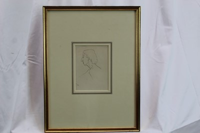 Lot 1773 - *Mervyn Peake (1911-1968) pen and ink - Female Model, in glazed gilt frame  Provenance: Chris Beetles Gallery, London