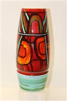 Lot 1002 - Large Poole Delphis vase with abstract...