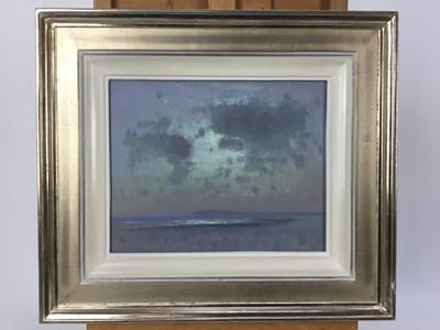 Lot 1771 - Fred Cuming (b.1930) oil on board - Deserted Beach, signed, framed