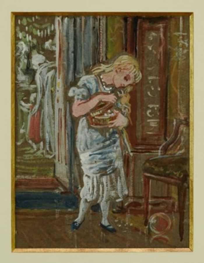 Lot 1766 - Walter Crane (1845-1915) watercolour - Pandora, in glazed gilt frame  Provenance: Chris Beetles Gallery, London