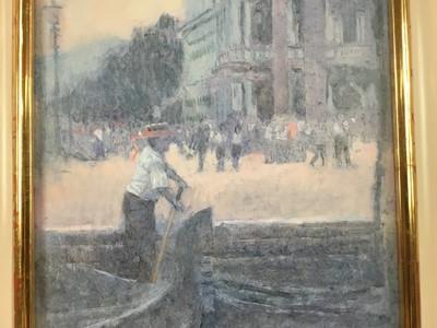 Lot 1801 - Pam Masco (1953-2018) oil on canvas - The Gondelier, signed, framed  Provenance: Thompson's Aldeburgh