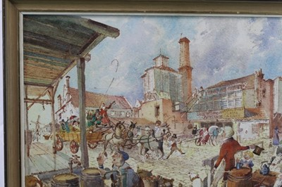 Lot 1763 - Peter Proud, watercolour - Adnams Brewery, Southwold, signed and dated  '70, in glazed frame
