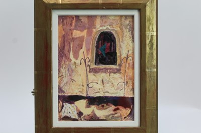 Lot 1726 - *Christine Woodside (b.1946) mixed media - Arezzo, signed, in glazed gilt frame