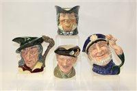 Lot 1004 - Four Royal Doulton character jugs - Parson,...