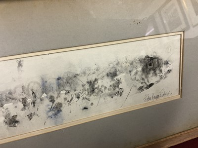 Lot 1790 - *John Knapp-Fisher (1931-2015) mixed media on paper - A Fish, signed and  dated 1966, in glazed frame