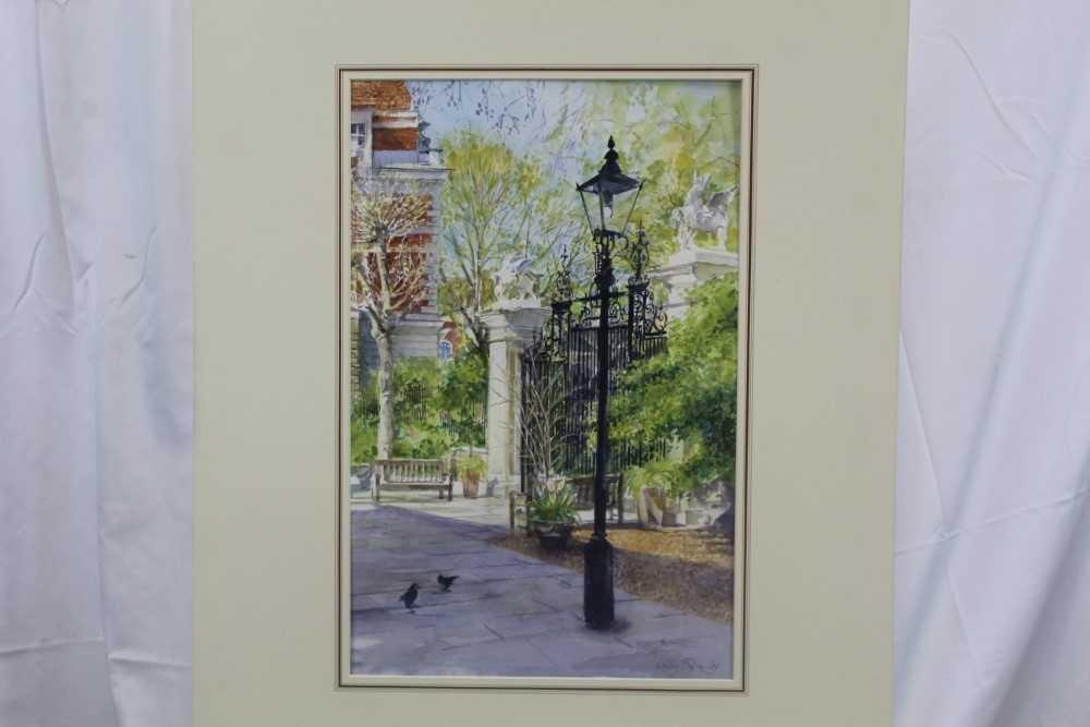 Lot 1806 - Lesley Fotherby (b. 1946) watercolour - Grays Inn, near Chancery Lane, signed, mounted  Provenance:  Chris Beetles Ltd, London