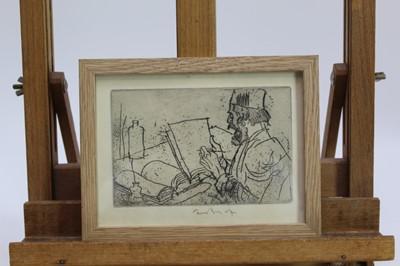 Lot 1735 - *Sir Frank Brangwyn (1867-1956) signed etching from 'L'Ombre de la Croix', 1931, in glazed frame  Provenance:  Goldmark Gallery, Rutland