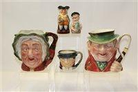 Lot 1006 - Three small Royal Doulton character jugs -...