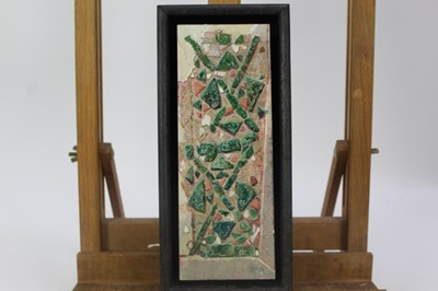 Lot 1869 - Val Archer (b. 1946), oil on paper - Triangoli, initialled, framed  Provenance:  Chris Beetles Ltd, London
