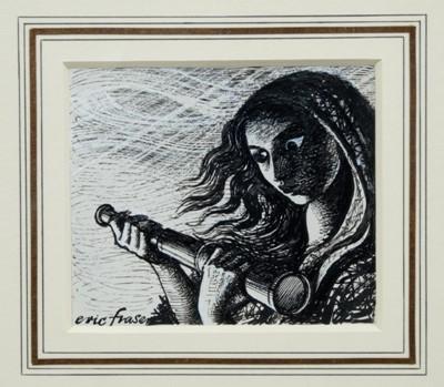 Lot 1829 - Eric Fraser (1902-1983) pen, ink and bodycolour - Hardy's The Return of the Native, signed, in glazed gilt frame  Provenance:  Chris Beetles Ltd, London