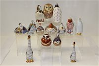Lot 1007 - Nine Royal Crown Derby paperweights including...