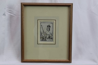 Lot 1776 - Cicely Mary Barker (1895-1930) pen and ink - 'Please to find a little Q in a Queen who quickly grew', in glazed frame  Provenance:  Chris Beetles Ltd, London