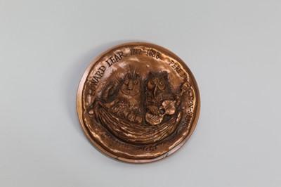 Lot 1847 - *Ronald Searle (1920-2011) bronze medallion - Edward Lear 1812-1888, Pere Du Non-Sens  Provenance:  Chris Beetles Ltd, London