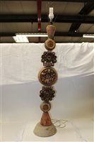 Lot 1008 - Impressive Bernard Rooke studio pottery totem...