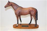 Lot 1016 - Beswick Connoisseur model - Racehorse, on...