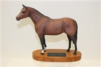 Lot 1017 - Beswick Connoisseur model - Thoroughbred, on...