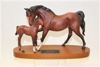 Lot 1021 - Beswick model - Spirit of Affection, on plinth...
