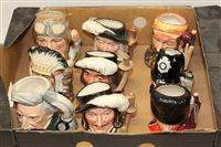 Lot 1028 - Nine Royal Doulton character jugs - Aramis...