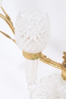 Lot 33 - Good stylish four branch glass centrepiece