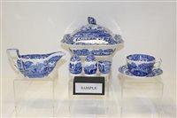 Lot 1031 - Copeland Spode Italian pattern blue and white...
