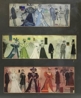 Lot 37 - Costume designs for The Importance of Being Earnest, framed watercolour, indistinctly signed