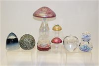 Lot 1039 - Group of eight paperweights including...