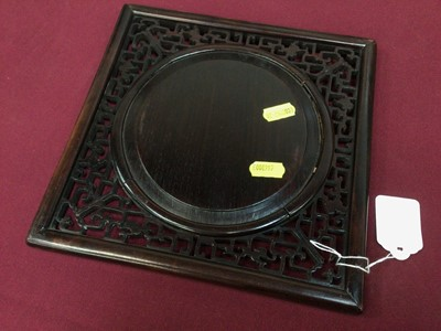 Lot 62 - Chinese famille verte plaque