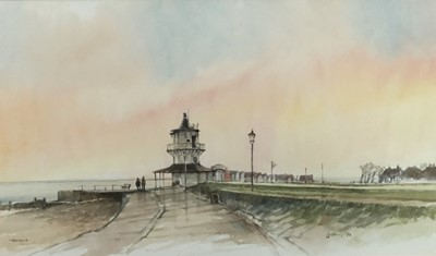 Lot 14 - Terry Jeffrey watercolour study- Harwich, signed and dated 1998, in glazed frame