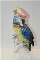 Lot 1043 - Large Karl Ens porcelain model of a cockatoo,...