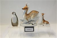 Lot 1045 - Selection of Russian porcelain animal...