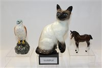 Lot 1047 - Collection of Beswick models - including cats,...